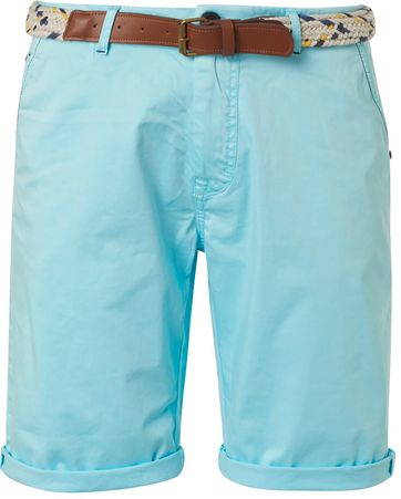 No-Excess Short Garment Dye Blauw