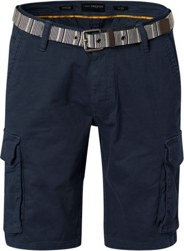 No-Excess Short Garment Dyed Dark Blue