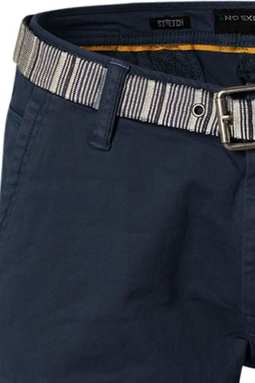 No-Excess Short Garment Dyed Donkerblauw