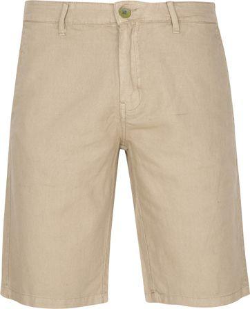 No-Excess Short Garment Dyed Leinen Khaki