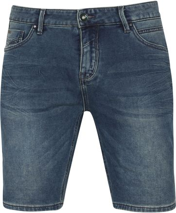No-Excess Short Jog Stretch Donkerblauw Denim