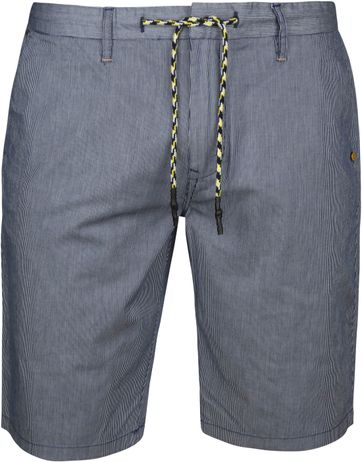 No-Excess Short Strepen Donkerblauw