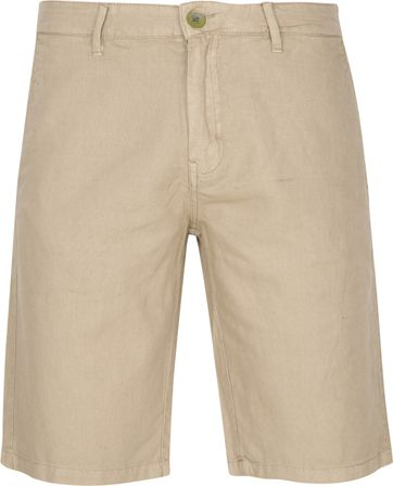 No-Excess Shorts Garment Dyed Linen Khaki