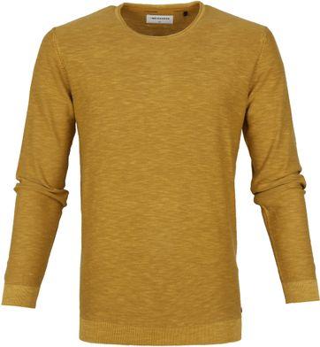 No-Excess Slub Stone Pullover Geel