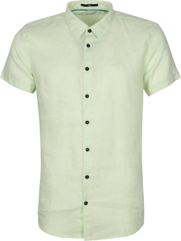 No-Excess SS Shirt Linen Lime Green