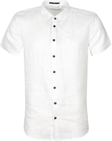 No-Excess SS Shirt Linen White