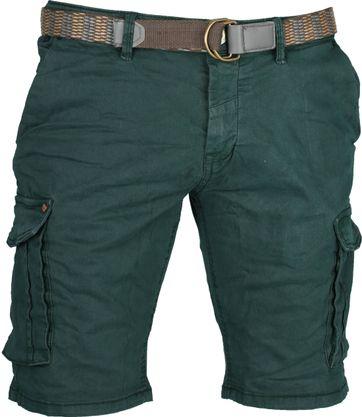 No-Excess Stretch Short Dark Green