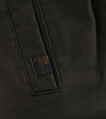Detail No-Excess Sweat Vest Donkergroen
