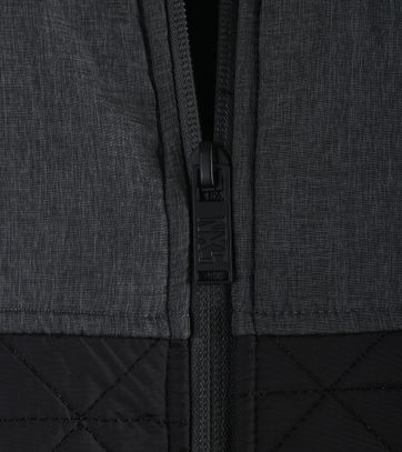 Detail No-Excess Sweat Vest Zwart