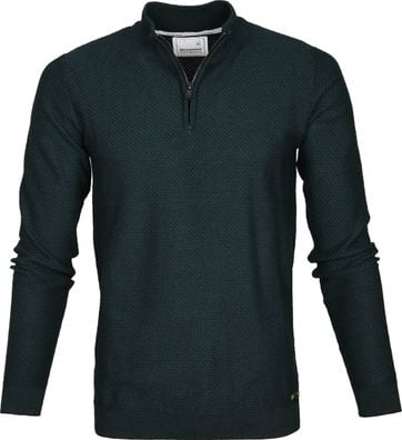 No-Excess Sweater Zipper Green