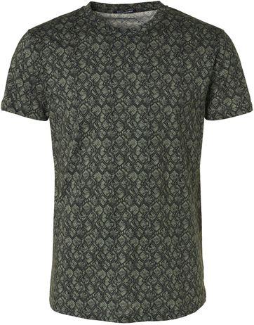No-Excess T-Shirt Dessin Dunkelgrün