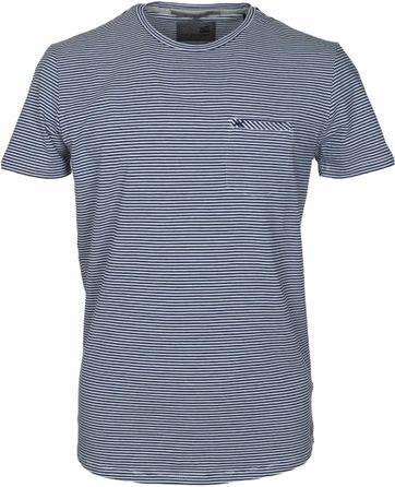 No-Excess T-shirt Dunkelblau Streifen