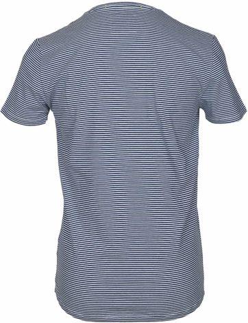 Detail No-Excess T-shirt Dunkelblau Streifen