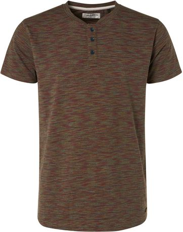 No-Excess T-Shirt Granddad Melange Multicolour