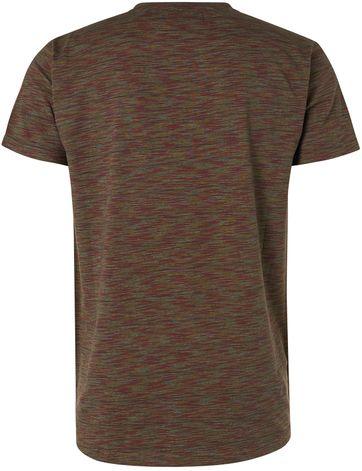 No-Excess T-Shirt Granddad Melange Multicolour