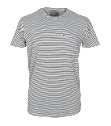 No-Excess T-shirt Grau Streifen