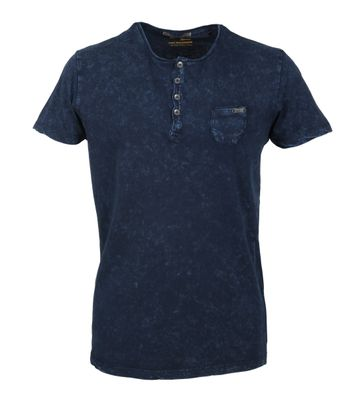 No-Excess T-shirt Navy Acid Wash
