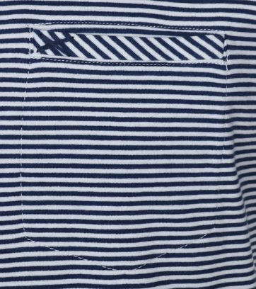 Detail No-Excess T-shirt Navy Streep