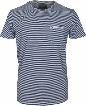 No-Excess T-shirt Navy Stripes