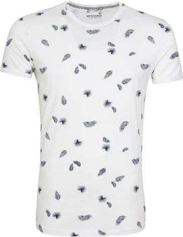 No-Excess T-shirt Palm Print Weiß