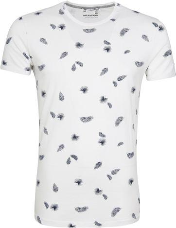No-Excess T-shirt Palm Print White