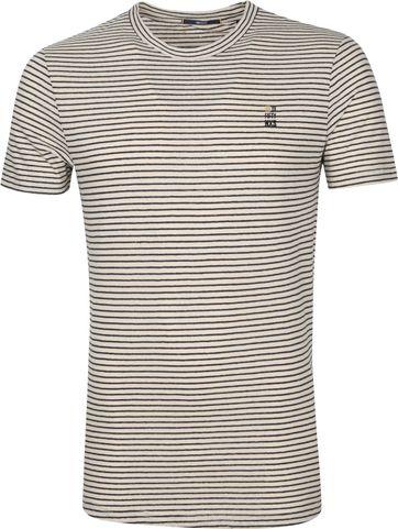 No-Excess T Shirt Streifen Yarn Dye Beige