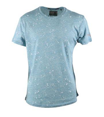 No-Excess Tshirt Blau Punkt