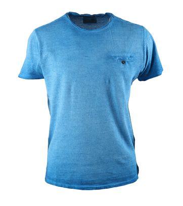 No-Excess Tshirt Blauw Streep