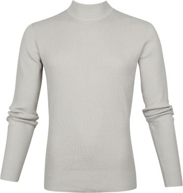 No-Excess Turtleneck Rib Beige