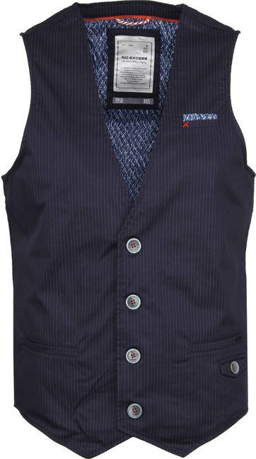 No-Excess Waistcoat Pin Stripe Navy