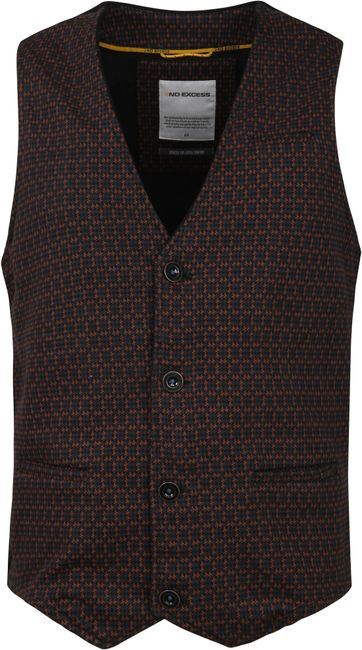 No Excess Waistcoat Unlin Brown