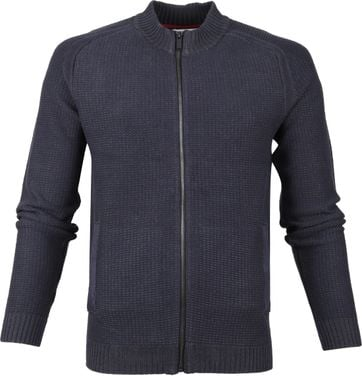No-Excess Weste Zip Dunkelblau