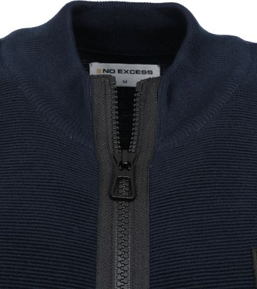 No-Excess Zip Cardigan Navy
