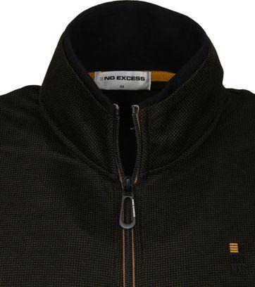 No-Excess Zip Pullover Design Dark Green