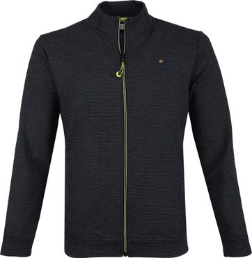 No-Excess Zip Pullover Navy