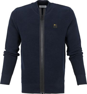 No-Excess Zip Strickjacke Navy