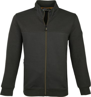 No-Excess Zip Vest Donkergroen 052
