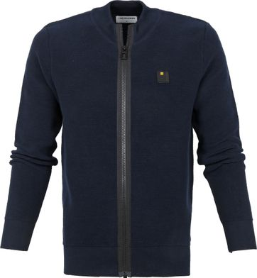 No-Excess Zip Weste Navy