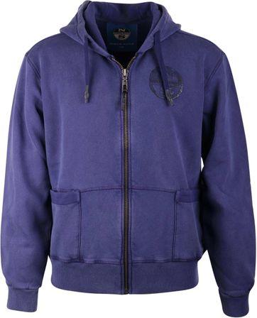 North Sails Cardigan Hoodie Purple