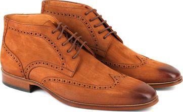 Nubuck Brogue Boots Cognac