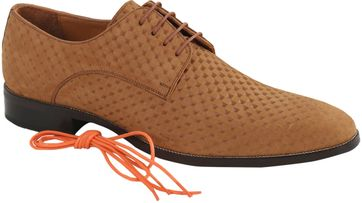 Nubuck Dress Shoes Brown Dessin