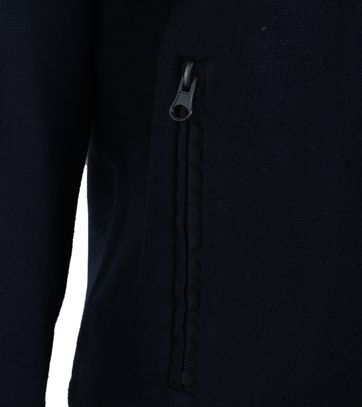 Detail NZA Cardigan Donkerblauw 17AN418
