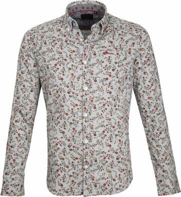 NZA Casual Overhemd Grijs Bloem