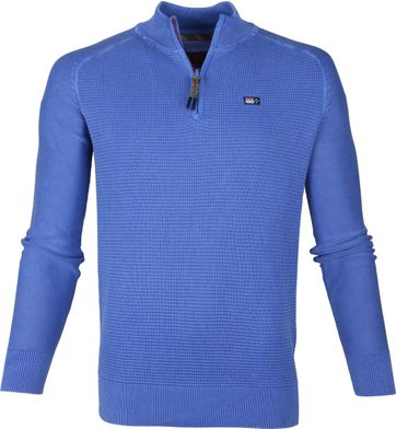 NZA Coromandel Half Zip Sweater Blue