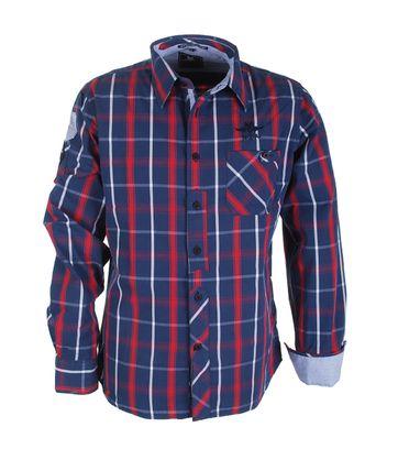NZA Hemd Checks Rot