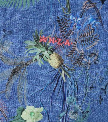 Detail NZA Hemd Fairhall Blau drucken