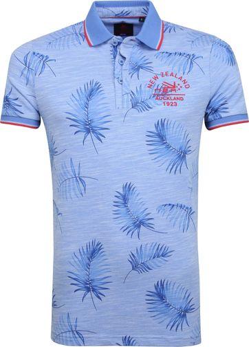 NZA Kaihu Poloshirt Print Blue