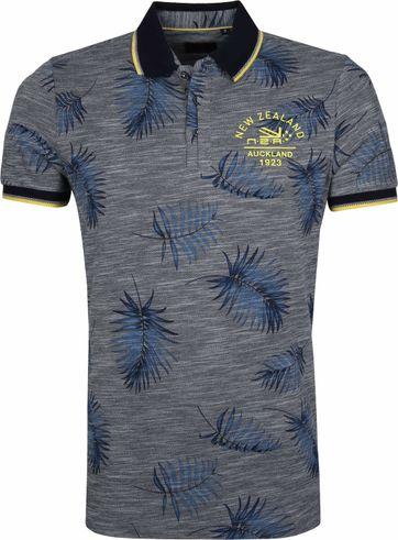 NZA Kaihu Poloshirt Print Dunkelblau