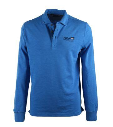 NZA Longsleeve Poloshirt Blauw 17BN202B