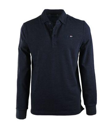 NZA Longsleeve Poloshirt Donkerblauw 17BN202B
